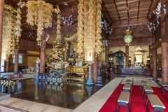 京都,日本- 2015年10月08日:寺庙内部在京都,日本 免版税库存图片