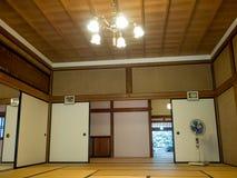 京都,日本- 2017年7月05日:用榻榻米垫报道的屋子在Tenryu籍在京都 免版税库存照片