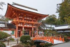 京都,日本- 2015年1月12日:Kamigamo-jinja寺庙 一著名shri 免版税库存图片