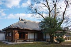 京都,日本- 2015年1月11日:Kyo坎市在没有miya住所站点  免版税库存图片