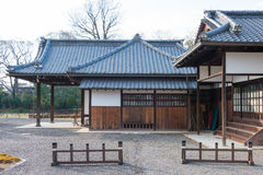 京都,日本- 2015年1月11日:Kyo坎市在没有miya住所站点  免版税图库摄影