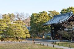 京都,日本- 2015年1月11日:Kyo坎市在没有miya住所站点  图库摄影