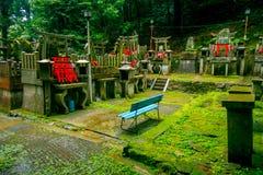 京都,日本- 2017年7月05日:Mitsurugi寺庙Choja寺庙在Fushimi Inari Taisha寺庙的祷告区域 一著名历史 免版税图库摄影
