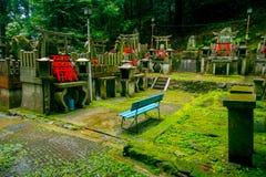 京都,日本- 2017年7月05日:Mitsurugi寺庙Choja寺庙在Fushimi Inari Taisha寺庙的祷告区域 一著名 免版税图库摄影