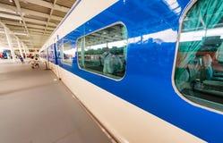 京都,日本- 2016年5月30日:Shinkansen火车里面铁路Mus 库存照片