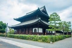 京都,日本- 2017年7月05日:Yasaka寺庙,亦称Gion寺庙,是其中一座最著名的寺庙在京都 的treadled 免版税库存图片