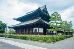 京都,日本- 2017年7月05日:Yasaka寺庙,亦称Gion寺庙,是其中一座最著名的寺庙在京都 的treadled 库存图片
