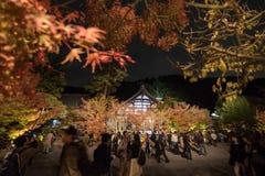 京都,日本- 11月24 :在Eikando寺庙的秋天叶子 图库摄影