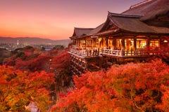 京都,日本Kiyomizu寺庙  免版税库存图片