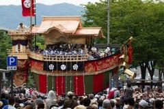 京都- 7月24 :大Funaboko (装饰浮游物s 免版税图库摄影