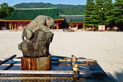 老虎的圣洁喷泉在日本 库存图片