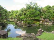 京都Nijo城堡庭院 库存图片
