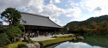 京都Tenryu籍寺庙和庭院 免版税库存图片
