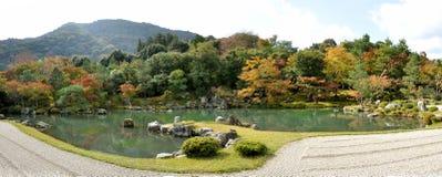 京都Tenryu籍寺庙庭院 免版税图库摄影