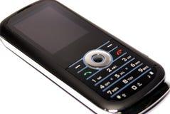 亭亭玉立黑色的移动电话 库存图片