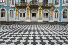 亭子偏僻寺院,凯瑟琳公园, Tsarskoye Selo普希金,俄罗斯 库存照片