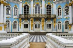 亭子偏僻寺院,凯瑟琳公园, Tsarskoye Selo普希金,俄罗斯 库存图片