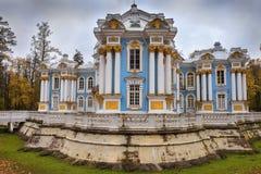 亭子偏僻寺院,凯瑟琳公园, Tsarskoye Selo普希金,俄罗斯 免版税库存照片