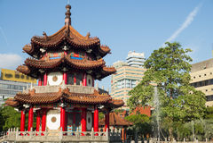 亭子在一个公园在台北 免版税库存图片