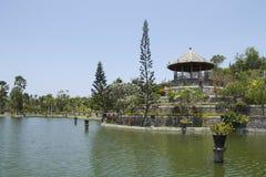 亭子在塔曼Soekasada Ujung水宫殿 图库摄影