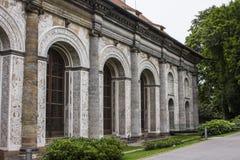 亭子在布拉格城堡附近的皇家庭院里 捷克布拉格共和国 免版税库存照片
