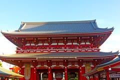 亭子在Senso籍寺庙在浅草东京,日本 库存图片