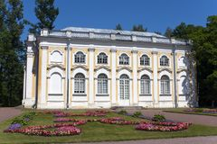 亭子石大厅在Oranienbaum,彼得斯堡,俄罗斯 库存图片
