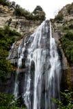 亮光瀑布在纳皮尔, NZ 免版税库存图片