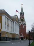 亲切的克里姆林宫莫斯科晚上spassky塔 免版税库存照片