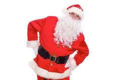 亲切的圣诞老人,隔绝在白色背景 免版税库存图片