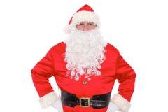 亲切的圣诞老人,隔绝在白色背景 免版税库存照片