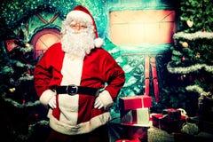 亲切的圣诞老人 免版税库存照片