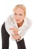 亲吻发送妇女年轻人 免版税图库摄影