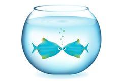 亲吻向量的鱼 免版税库存图片