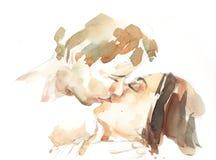亲吻夫妇画象