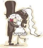 亲吻婚礼 免版税库存照片