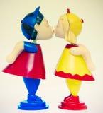 亲吻宏观的玩具 库存照片
