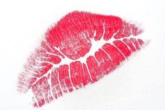 亲吻屏幕 免版税库存图片