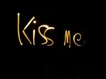 亲吻我 免版税库存图片