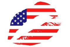 亲吻美国 皇族释放例证