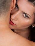 亲吻脖子 图库摄影