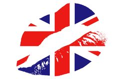 亲吻英国 库存例证