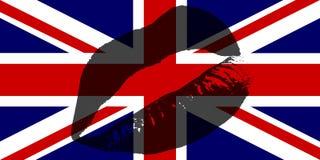 亲吻英国 库存照片