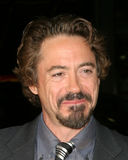 亲吻,罗伯特Downey小,罗伯特Downey Jr.,罗伯特Downey, Jr。 库存图片