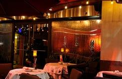 亲密的餐馆 免版税图库摄影