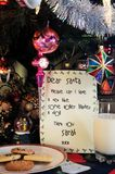 亲爱的圣诞老人信件。 免版税库存照片