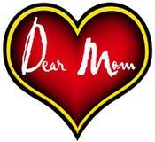 亲爱的妈妈 库存图片