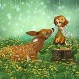亲爱的小鹿 免版税库存图片