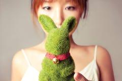 亲爱的我的兔子 免版税库存图片