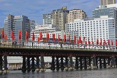 亲爱的港口桥梁,悉尼,澳大利亚 免版税图库摄影